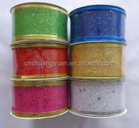 High quality cheap 28mm yarn decorative ribbon,merry christmas ribbon