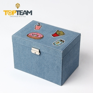 custom logo vintage jewelry gift packaging box with drawers