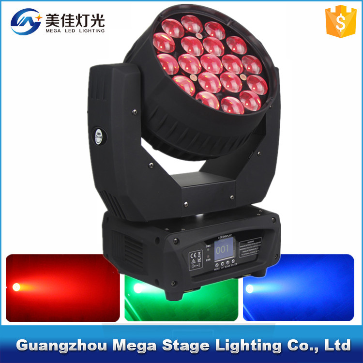 pro color mixture dimming 19x12w 4in1 Beam zoom martin moving head lights
