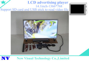 1366*768 lcd 14.1inch wearable video ad player
