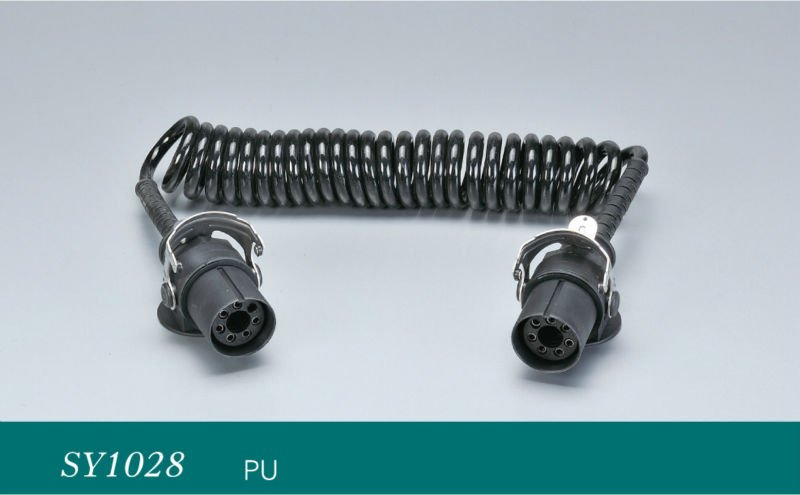 7-Way Connector w/ Coiled Cable - Trailer End