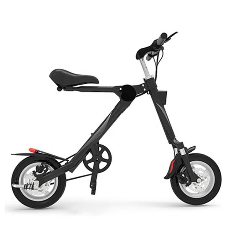 Mountain City Urban Adult Fat Tire Bicycle Folding Electric Bike Kit e bike electric bicycle, Black