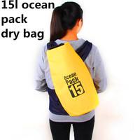 15L Ocean Pack Dry Bag Waterproof Diving Bag Travel Waterproof Dry Bag for Camping