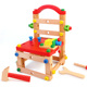 Funny children's educational DIY assemble work chair wooden intelligence toys wooden montessori toys for sale