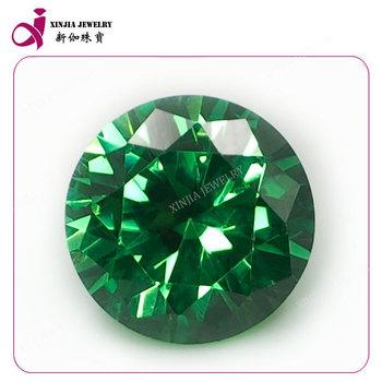 Round Cz Loose Gemstone Emerald Cubic Zirconia Best Emerald Price ...