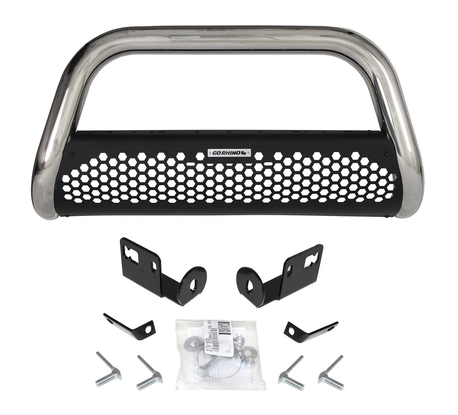 Go Rhino 55366PS Rhino Charger RC2 Bull Bar Polished Stainless Front Mounting Brackets Sold Separately Rhino Charger RC2 Bull Bar