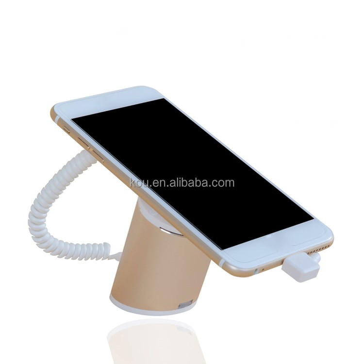 Single aluminium alloy phone anti-theft alarm system for android mobile phone shop