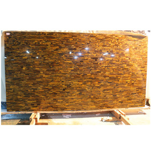 Tiger eye stone slabs, Natural color stone tiles for wall decoration