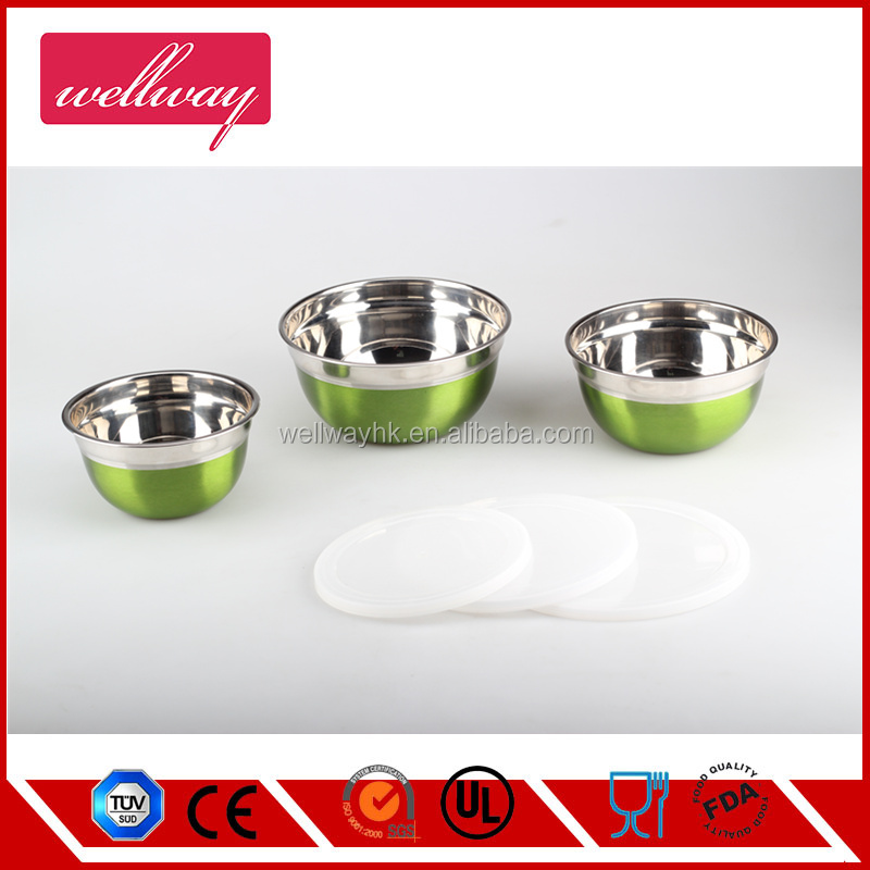 Stainless Steel Mixing Bowls with Measuring Cups Set - Multi Color