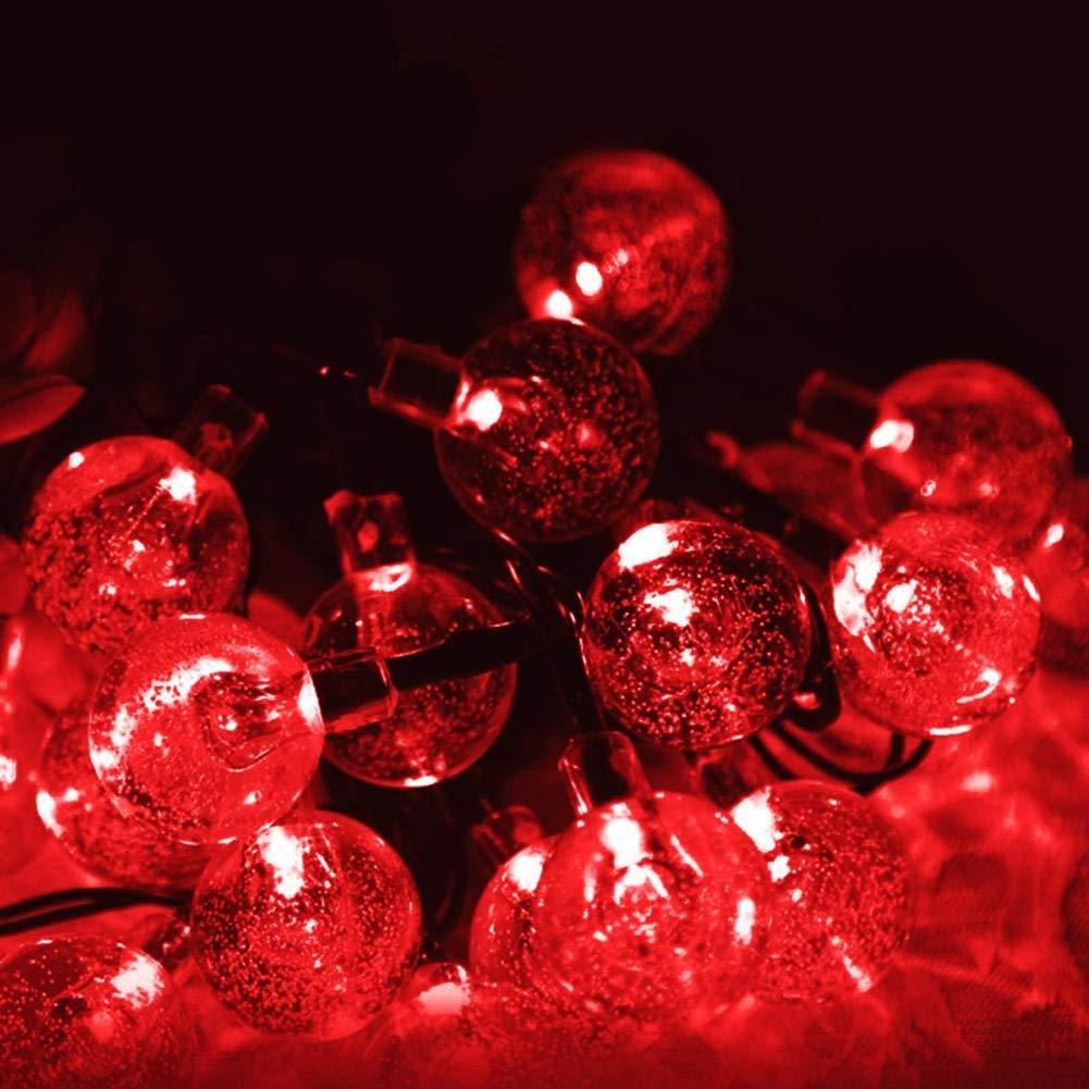 Get Quotations Pawaca Lights String Elegant Outdoor Solar Light 6m 30 Led Ball Bulbs Fairy