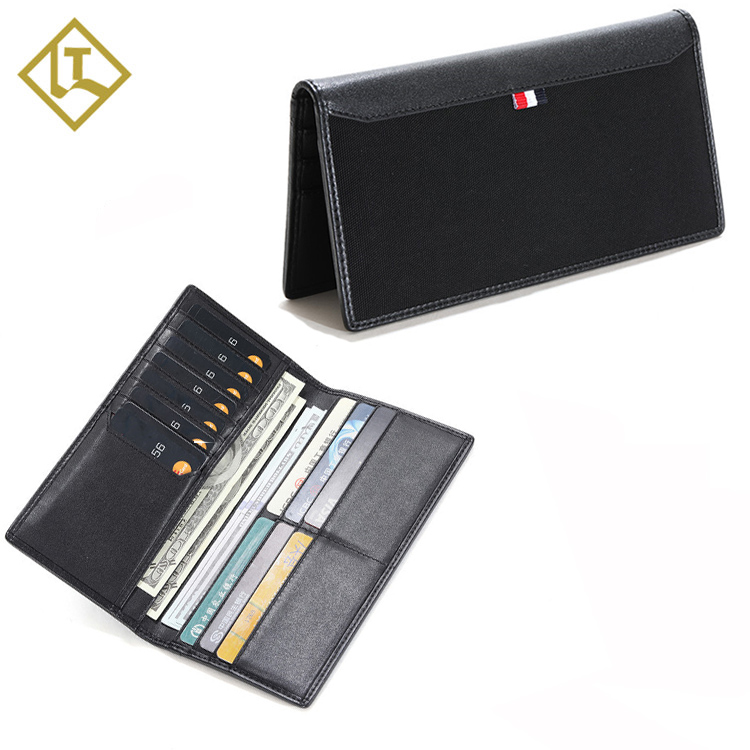Mens Bifold Waterpoof Wallets Nylon RFID Slim Mens Long Wallets Canvas <strong>Leather</strong> Wallet <strong>Clutch</strong>