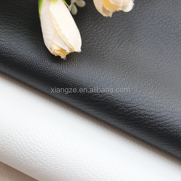 Soft hand feeling double brush embossed faux leather rexine cloth price for cloth