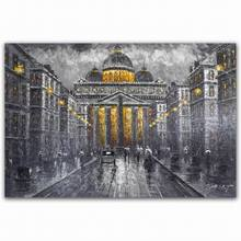 digital print canvas photo frame painting french paris street oil painting