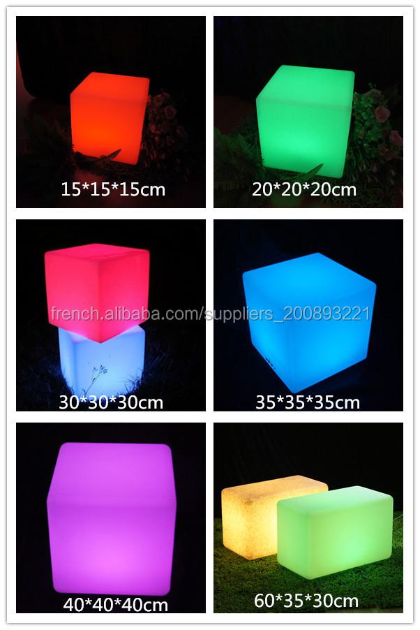 Tabouret De Cuisine Cube Lumineux Pas Cher Lampe Multicolore Led