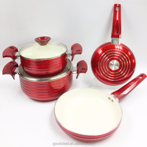 MSF-6883 6pcs pressing aluminum cookware set Pococina brand fat free cooking and clean up ease