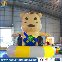 Hot selling lovely giant inflatable bear cartoon character for advertising