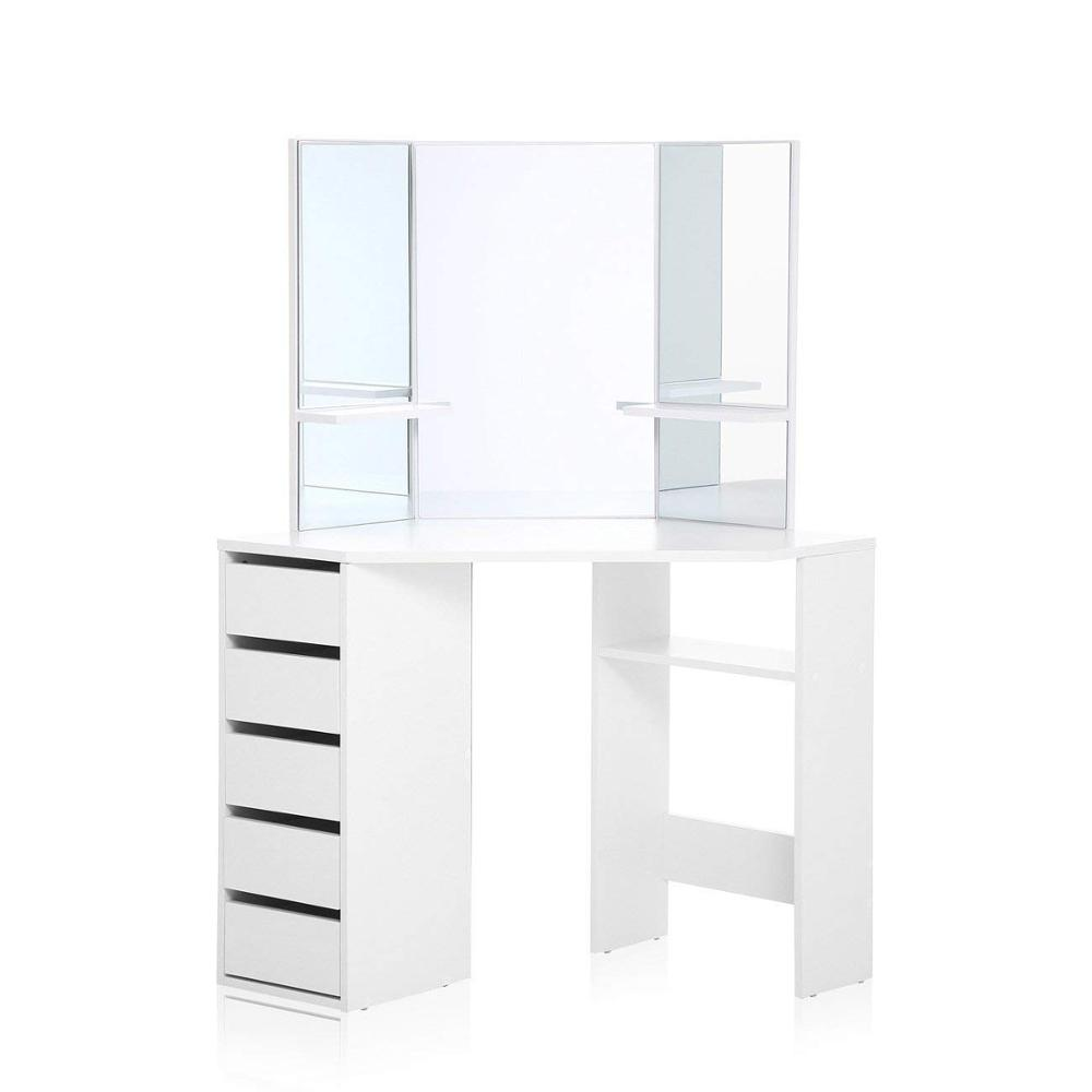Dressing Table Mirror Set Wooden Vanity