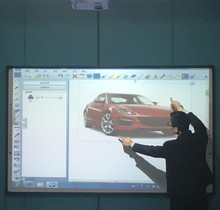 Clixup School and Office using 4 user writing touch screen digital and dry erase electronic interactive Whiteboard