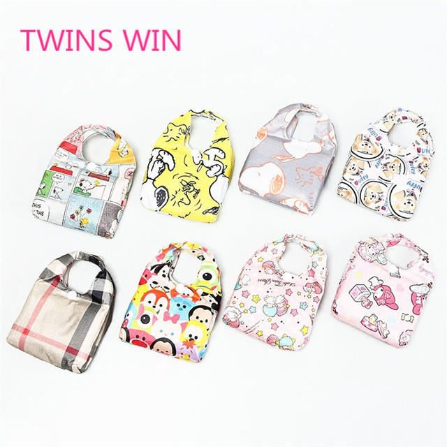 Amazon Hot Selling Amazon Kawaii Cartoon extra large roll up Oxford vegetable shopping trolley bag custom your own design 197