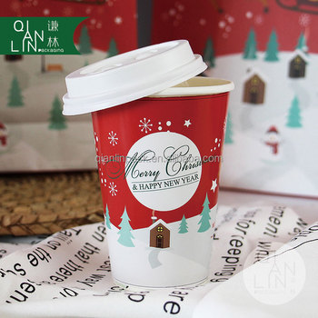 christmas celebration paper cup for drink coffee paper cup tea paper cup - Christmas Coffee Cups