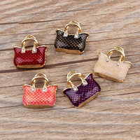 Best selling fashion zinc alloy 3D enamel charm shape bag