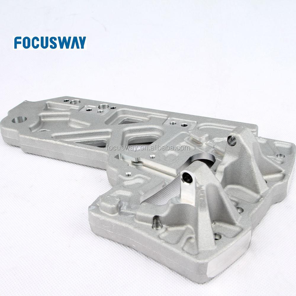 Couverture latérale Raccords CNC Tournage Usiné En Aluminium Moulage sous pression Pièces De Rechange Mécaniques