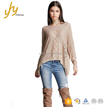 76464f759d8 Summer Thin Long Sleeve Hollow Out Lcy Silk Woolen Sweater Designs Ladies