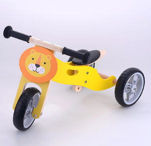 cheaper for 3 wheel no pedal kids /beautiful animals wooden balance bike