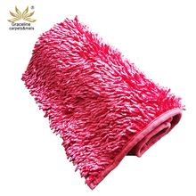 Warna Solid Lembut Microfiber <span class=keywords><strong>Shaggy</strong></span> Glossy <span class=keywords><strong>Chenille</strong></span> Bath Dapur Mat