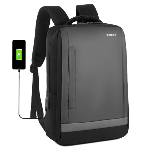 Best designehot sell minimalist style futurist backpack waterproof anti theft usb charge shockproof backpack