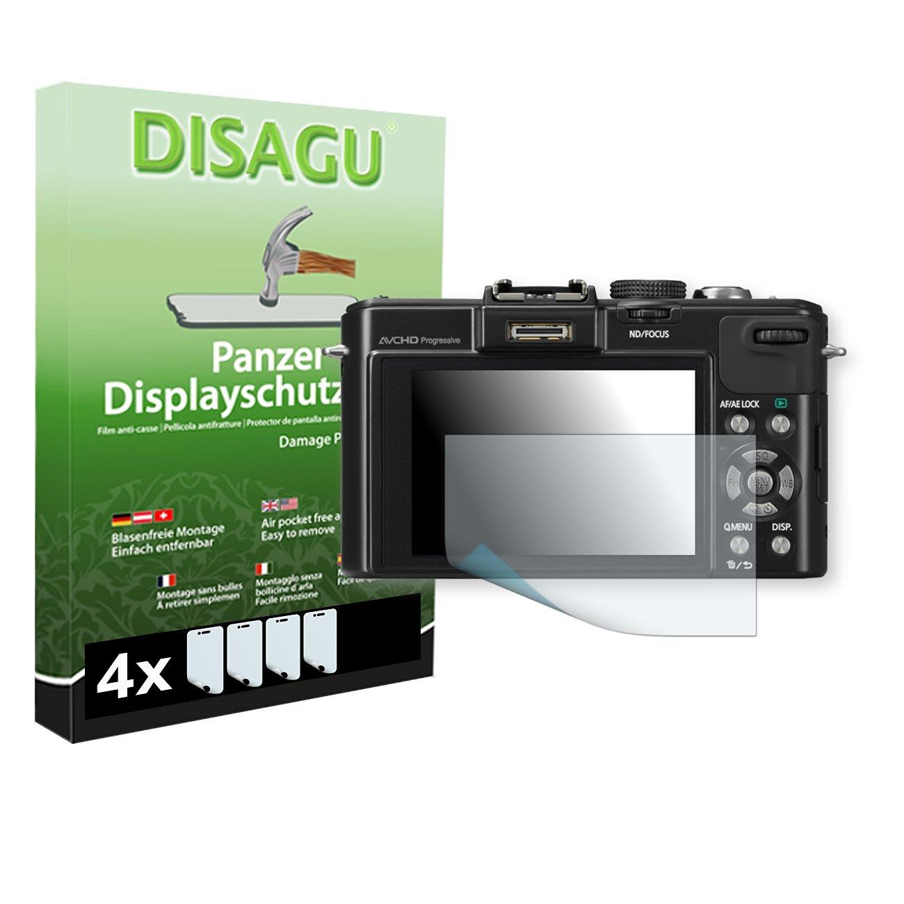 4 x DISAGU Armor screen protector for Panasonic Lumix-DMC LX7 screen fracture protection film