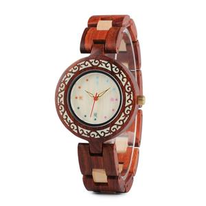 Refined and simple Design Women Wooden Watches Seasons Colors for Natural Element Wood Ladies Watch