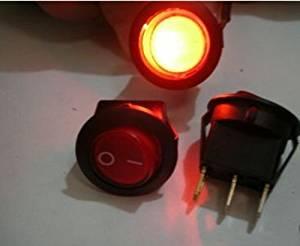 HOT SALE!!! BARGAIN PRICE!!! 1pcs RED Indicator Illuminated AC 110v-120V-250V SPST 6A Power Rocker Switch,R8C in Business
