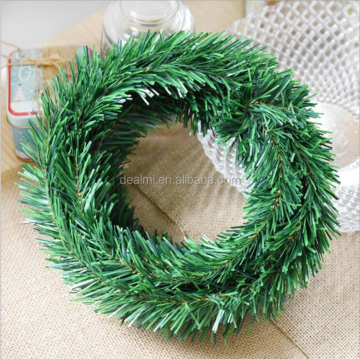DEMIZXX858 Wholesale Custom PVC Material Green Color Free Shipping Home Ornaments Fashion Design Christmas Garland