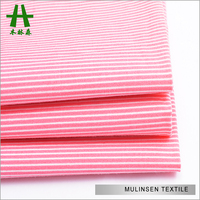 Mulinsen Textile Hot Sale High Quality Woven Stripe Printed Cotton Poplin Calico Fabric for Garment