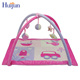 Beautiful baby play mat with red super soft cloth and car pattern