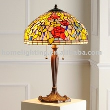 "TF-2416 Victorian Tiffany Style Stained Glass 2-Lt Table Lamp 18"" Shade"