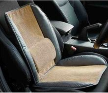 pu leather memory foam car seat back support cushion