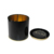 Wholesale custom black colored round collection empty tea tins