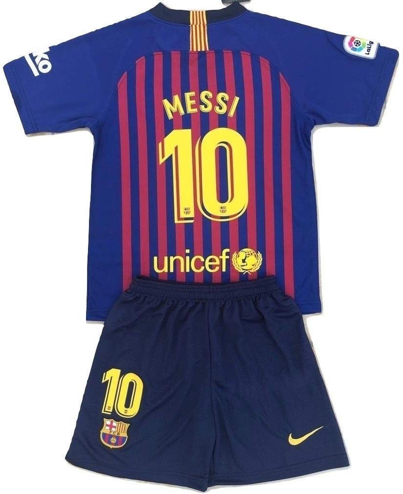 899c9e018eb Get Quotations · MilkaGGT Messi  10 FC Barcelona 2018-2019 Youths Kids Home  Soccer Jersey