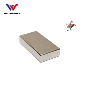 high performance n50 neodymium big block permanent magnet for sale 50x25x12mm