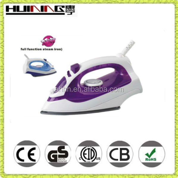 2015 awesome purple and white dry clean steam iron teflon soleplate