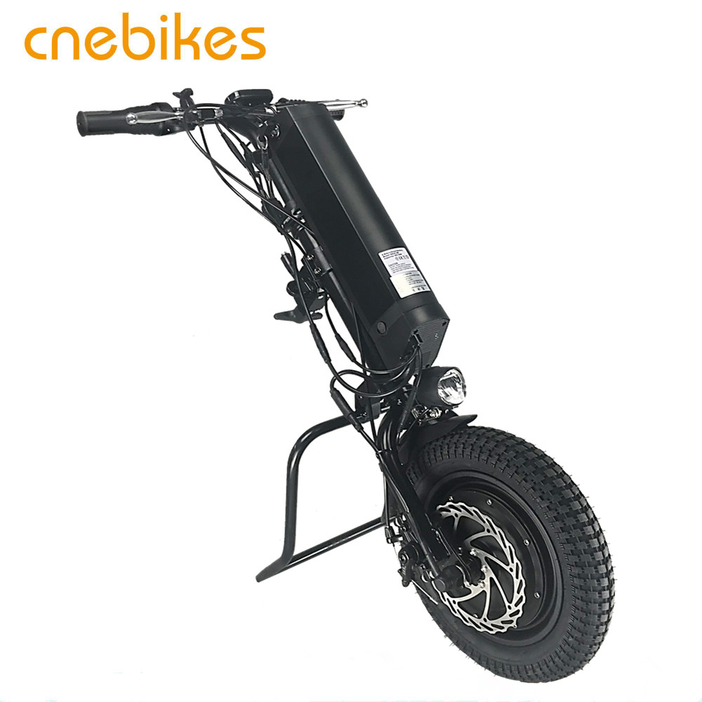 wheelchair attachment 36v 350w full wheel hub motor electric handcycle with 11.6ah battery