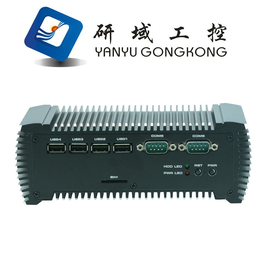 cheap Fanless linux x86 embedded mini box pc barebone pfsense system supports Bay Trail N2930 Processor for 2 nic
