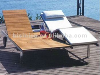 Wooden Beach Lounge Chair/Outdoor Beach Chair/Garden/Pool Beach Chair/Beach