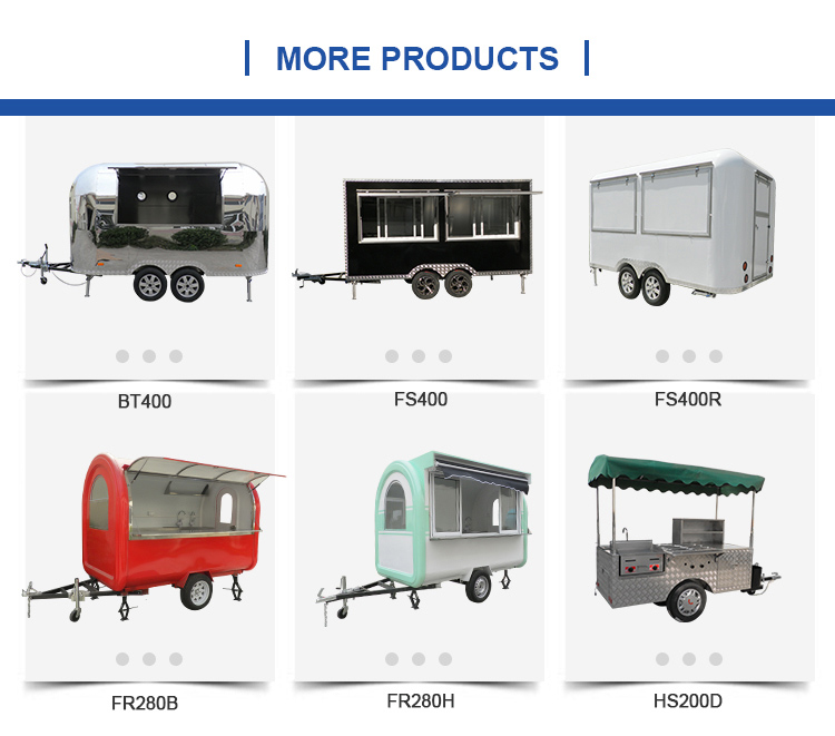 Custom small USA standard concession fast food trucks mobile food trailer