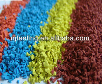 Epdm And Sbr Rubber Granule/rubber Chips/crumb Rubber For Flooring ...