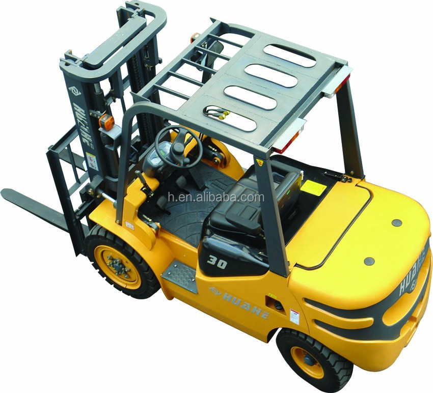 3T telescopic forklift with forklift attachment