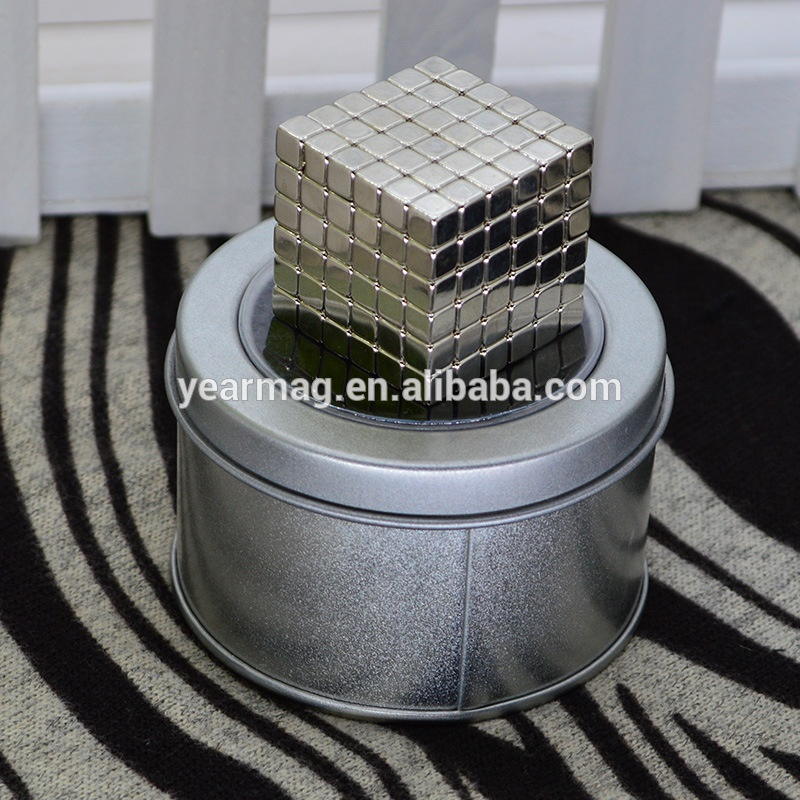 Cheap Price Wholesale Strong Magnetic force 5mm Cube Neodymium Magnets for Gift Puzzle