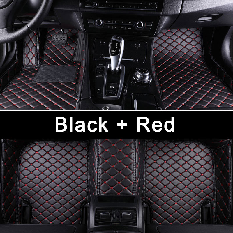 anti-dust 3D full covering diamond stitches leather car floor mat for E class200/300/260 C class